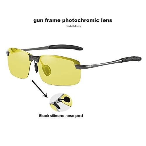 ERIOG Gafas de Sol Polarizadas Gafas de Sol polarizadas fotocrómicas Hombres Mujeres Día Visión Nocturna Conducción Deportes Camaleón Decoloración Gafas de Sol Hombres