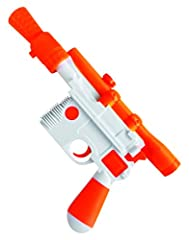 OFFICIALLY LICENSED Star Wars costume accessory, a trademark of Disney and Lucasfilm; look for trademark logo packaging and labels to help ensure you've received authentic safety-tested item Han Solo white and orange plastic blaster Costume accessory...