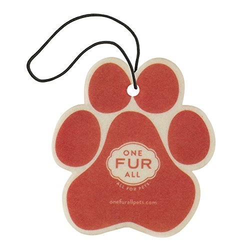 One Fur All Pet House Car Air Freshener, Pack of 4 – Ruby Red Grapefruit - Non-Toxic Auto Air Freshener, Pet Odor Eliminating Air Freshener for Car, for Small Spaces, Dye Free Dog Car Air Freshener