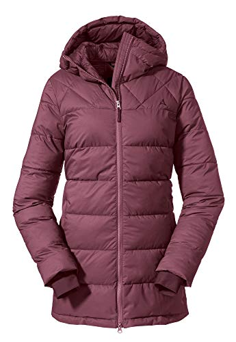 Schöffel Damen Parka Boston L Wintermantel, red moscato, 38