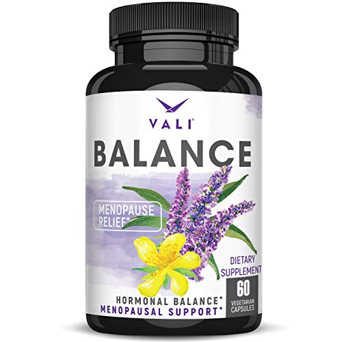 Menopause Relief Supplement for Women - Herbal Hormone Balance Pills for Hot Flashes, Night Sweats Mood Swings & Natural Menopausal Symptom Support. Vitex, Black Cohosh & Dong Quai. 60 Veggie Capsules