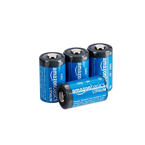 AmazonBasics Lithium CR2 3V Batteries - Pack of 4 (Appearance may vary)