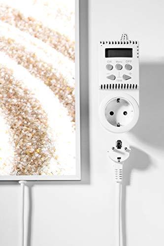 Könighaus Fern Infrarotheizung – Bildheizung in HD Qualität mit TÜV/GS – 200 Bilder – mit Thermostat 7 Tage Programm – 600 Watt (116. Schmetterling Sand) Bild 3*