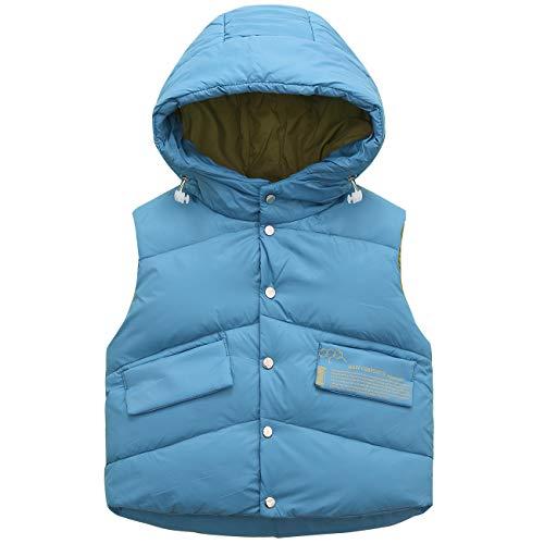 Chaleco de Plumón para Niños Niñas Invierno Sin Mangas Acolchado Abrigo Ligero Chaqueta de Abajo Calentar Ropa de Invierno
