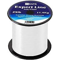 BZS Expert Sea Coarse Carp Fishing Line Clear, Brown monofilament Line Bulk SPOOLS 4lb 5lb 6lb 8lb 10lb 12lb 15lb 20lb 25lb 30lb 40lb 50lb 60lb (0.55mm / 13.6Kg / 30lbs / 386m, Clear - Sea Fishing)