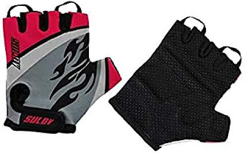 SULOV Kinder Junior Fahrrad Handschuhe, Rosa, L