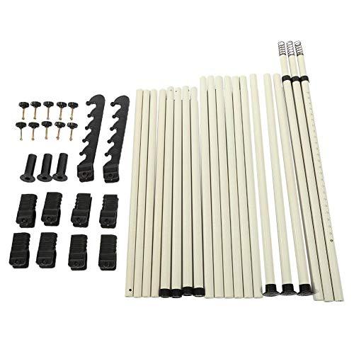 Ausla - Scaffale da parete per vestiti, appendiabiti, guardaroba, 4 incroci Hot, 3 travi trasversali, 4 tubi in acciaio ABS, diametro tubo 25 mm