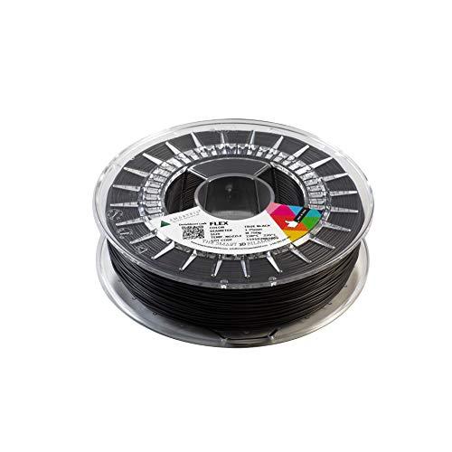 Smarfil FLEX, 1.75mm, True Black, 750g Filamento para Impresión 3D de Smart Materials 3D