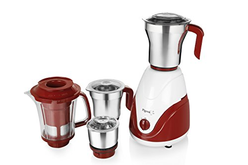 Pigeon 750W Polycarbonate 4 Jar Mixer Grinder(Red and White)