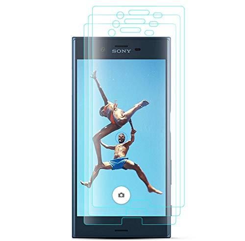 J&D Compatibile per Sony Xperia XZ Pellicola Protettiva/Sony Xperia XZs Pellicola Protettiva, 3-Pack [Vetro Temperato] [Non Piena Copertura] HD Chiaro Balistico Vetro Protezione Schermo per Xperia XZ