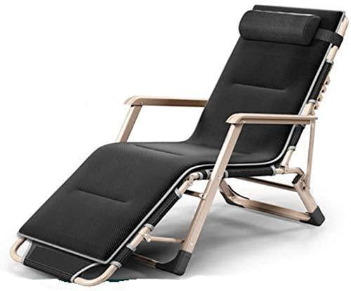 ZZX Liegestuhl klappbar Gartenliege klappbar Stühle Reclining Schwerelosigkeit Liegestühle im Freien Garten Schaukelliegestuhl für Strand Camping mit Kissen Unterstützung 200kg (Farbe, G.