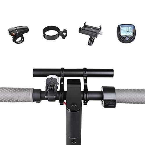 Atuka TOMALL Manillar Extensor Bicicleta Extensión Barra Soporte de aleación de Aluminio Negro Espacio para XIAOMI M365, Ninebot ES1 ES2, Bicicleta de montaña