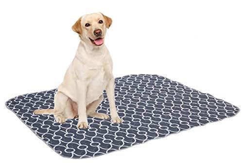 Brabtod - Almohadillas lavables para piis para perros (4 unidades), color gris