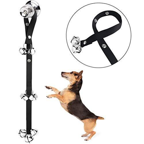 Qiekenao Hundeglockenseil, Haustier-Türklingel-Seil, Alarmseil, Hundetrainings-Glocke, verstellbar, Hundeglocke