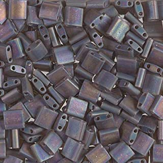 Tila TL-135FR Miyuki Tila Beads Matte Transparent Root Beer AB 10 Grams