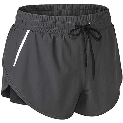 Gamlifing Womens Sports Gym Shorts Atmungsaktives Training Laufen Fitness Leggings Shorts 2 in 1 Damen Sports Shorts Yoga Shorts Fitnessshose Outdoor Sporthose