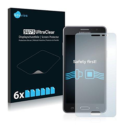 Savvies 6X Schutzfolie kompatibel mit Samsung Galaxy On5 2015 Bildschirmschutz-Folie Ultra-transparent