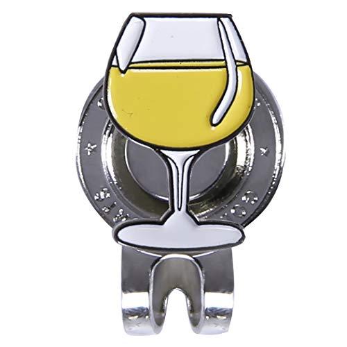 Golf Hoed Clip Metalen Wijnglas Vorm Golf Bal Marker Golf benodigdheden