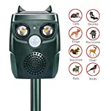 BX.JX Solar Ultrasonic Pest Repeller, Outdoor Waterproof Animal Repeller with Ultrasonic Sound,Motion Sensor pest Repeller for Cats, Dogs, Squirrels, Moles, Rats