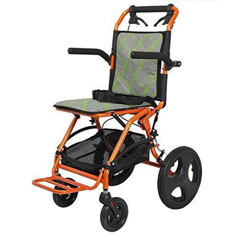 JHUEN Silla de Ruedas Premium Ultraligera con Brazos abatibles y Pedal de pie Plegable para Mayor Comodidad, portátil, Adecuado para Personas Mayores y discapacitadas