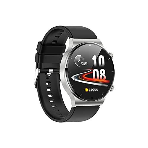PYAIXF Monitor De Sueño, Reloj Inteligente De Fitness GPS Frecuencia Cardíaca 24 Horas Al Día, 7 Días A La Semana Asistente De Voz Seguimiento De Natación para Niños Mujeres Hombres -Black
