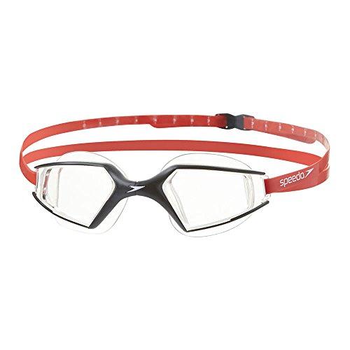 Speedo Aquapulse Max 2 Mirror, zwembril unisex volwassenen, zwart/transparant, eenheidsmaat