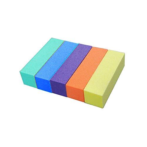 Lechnical 10 pcs bloc tampon ongles ponçage tampon tampons ongles fichiers manucure pédicure meulage polissage