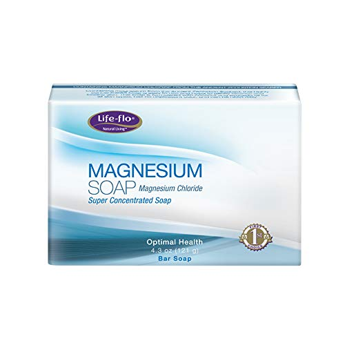 Life-flo Magnesium Bar Soap | Super Concentrated with Calming Magnesium Chloride, Plus Coconut and Avocado Oils | 4.3oz