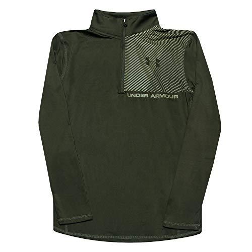 Under Armour Raid 1/4 Zip T-Shirt Manches Longues Garçon Vert FR : XL (Taille Fabricant : YXL)