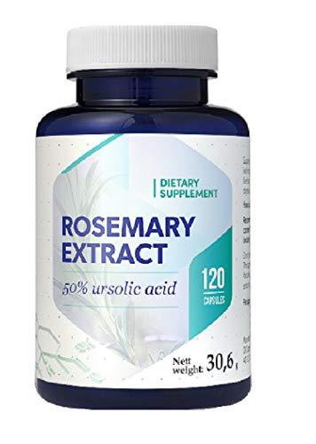 Acido Ursolico dall'estratto di rosmarino 75mg 120 Vegan Capsules, senza glutine, senza OGM