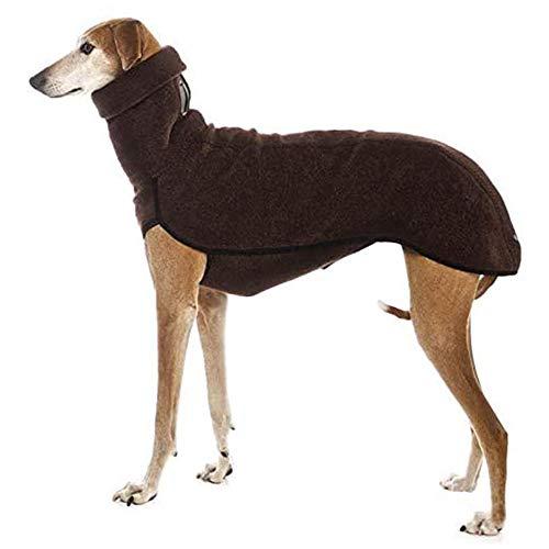 KEDUODUO Cuello del Abrigo para Perros Grandes Gran Danés Galgo Pitbull Ropa Ropa Animales Perro Medio Grande,Marrón,XXL