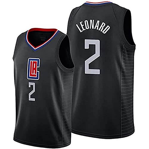 DIMOCHEN Movement Ropa Jerseys de Baloncesto para Hombres, NBA Los Angeles Clippers 2# Kawhi Leonard,Fresco, cómodo, Camiseta Uniformes Deportivos Tops (Size:XL,Color:G1)