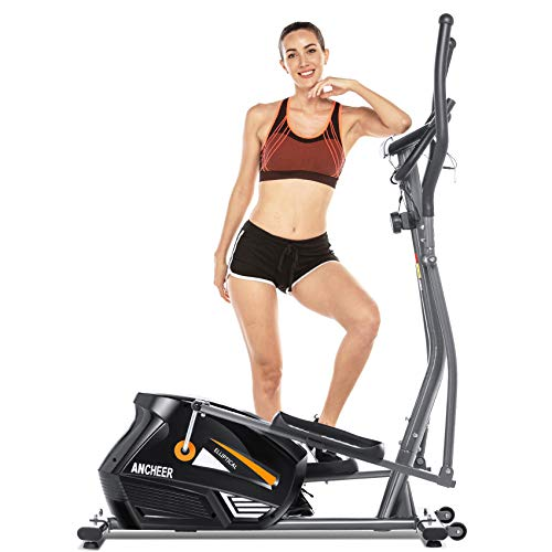 ANCHEER Eliptical Exercise,Elliptical Training Machines for Home Use,Heavy-Duty Equipment for Indoor Workout & Fitness with 10-Level Resistance&Max User Weight:390lbs.