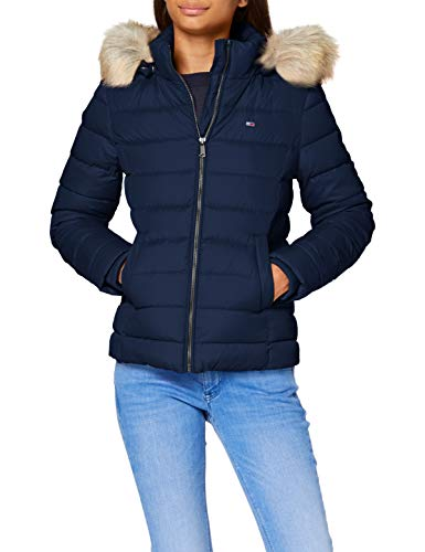 Tommy Jeans Damen Tjw Basic Hooded Down Jacket Jacke, Blue (Twilight Navy), XL