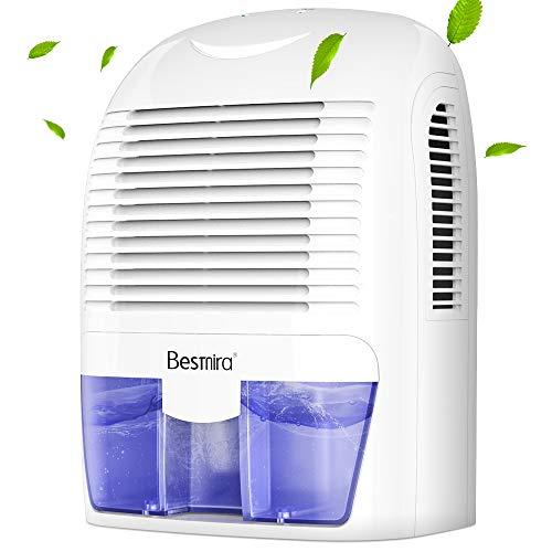 Besmira Portable Mini Dehumidifier 2200 Cubic Feet Electric Safe Dehumidifier for RV,Bathroom,Home,Basement,Closet
