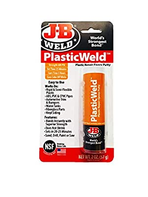 J-B Weld PlasticWeld Plastic Repair Epoxy Putty - 2 oz
