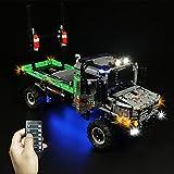 TopBau Juego de luces LED para camión LEGO 42129 Technic 4x4 Mercedes-Benz Zetros Offroad camión (no incluye kit Lego) – Versión RC