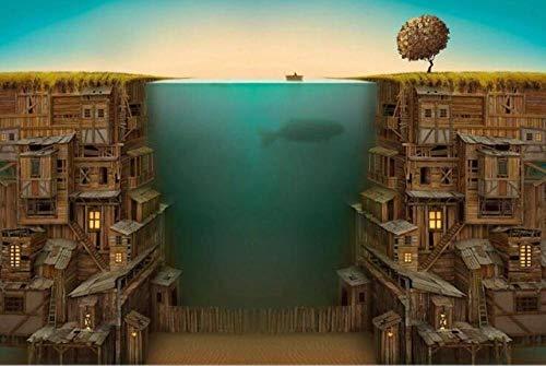 Decorsy Rompecabezas Puzzle 1000 Piezas Adultos Casa Submarina De Pescador Juguetes De Descompresión Para Adultos