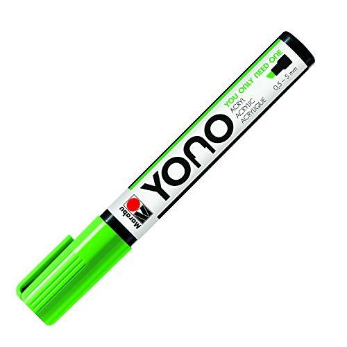 Marabu YONO 12400102061 12400102061 - Rotulador acrílico (punta biselada japonesa, resistente a la luz y al agua, para casi todas las superficies, 0,5-5 mm)