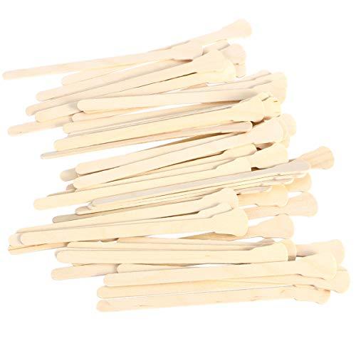 Minkissy 200 Pcs Spatules en Bois Cire Épilation à La Cire en Bois Corps Épilation Artisanat Bâtons Applicateur Spatule