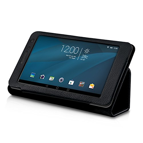 kwmobile Huawei MediaPad T1 7.0 Hülle - Tablet Cover Case Schutzhülle für Huawei MediaPad T1 7.0 - Schwarz mit Ständer - 6