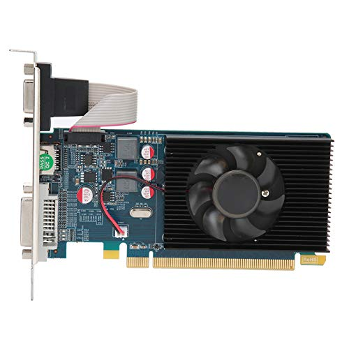 Dilwe HD7450 Carte graphique d'ordinateur 2G 64 bits 600 MHz DDR3 Carte graphique PCI Express 3.0 pour ordinateur de bureau