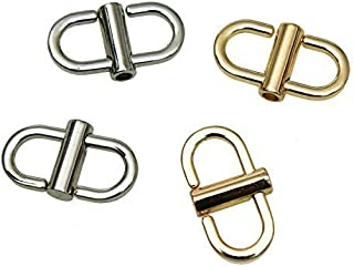 Monrocco 4 Pcs Adjustable Metal Buckles for Chain Strap Bag Shorten Handbag Crossbody Chain Strap Length Shorten Accessories