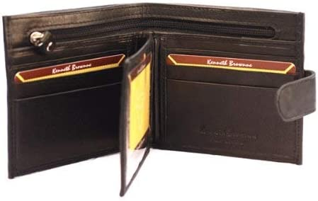 Men's Black Leather Credit Card Holder Coin Pouch Wallet 61926