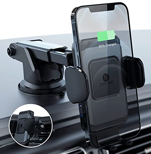 ZeeHoo Wireless Car Charger,10W Qi Fast Charging Auto-Clamping Car...
