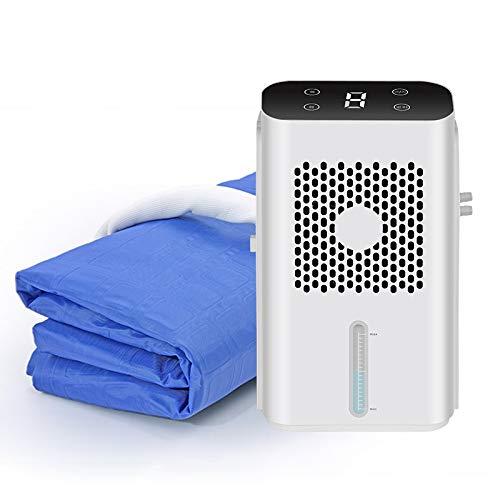 APENCHREN Klimaanlage Kühlung Matratze/Kühlkissen, Klimaanlage Lüfter, Kühlwasserkreislauf - für Sommerhäuser und Büros (Einzel/Doppel),Blue-160x70cm