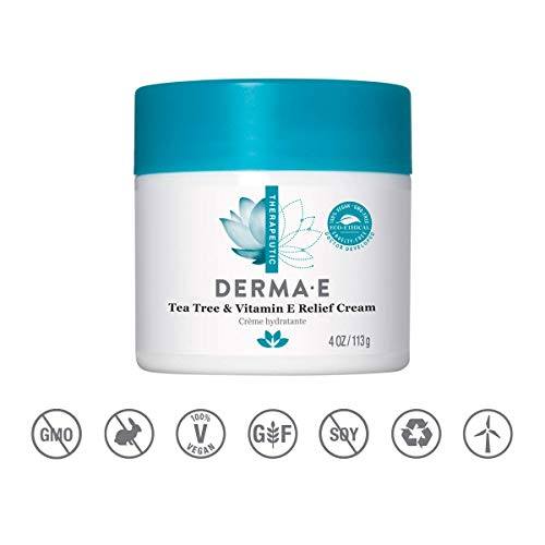 Derma E - Tea Tree and E Antiseptic Creme Treatment - 4 oz (2 Pack)