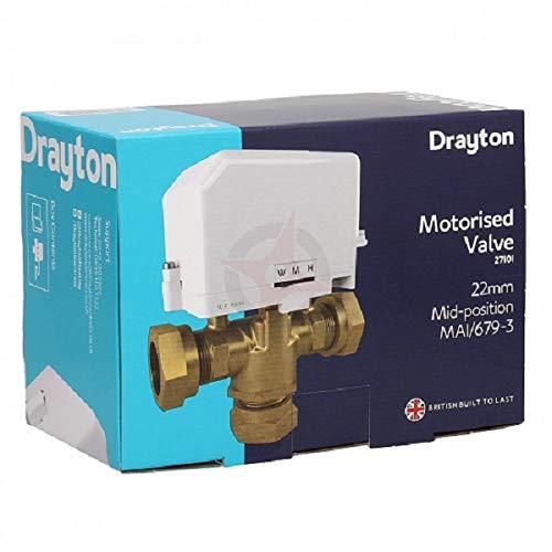 Drayton 27101 22 mm 3-poorts midpositie ventiel