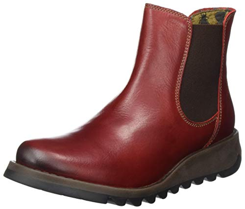 FLY London Salv Chelsea Boots, Rot (Red 004), 35 EU