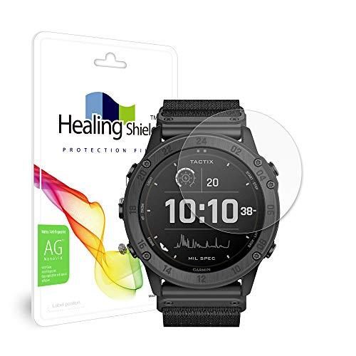 Healingshield Screen Protector Anti-Fingerprint Anti-Glare Matte Film Compatible with Garmin Tactix Delta Solar [Front 2pcs]